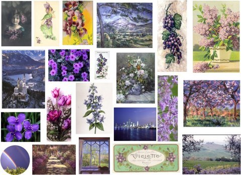 Collage Sheet Purple