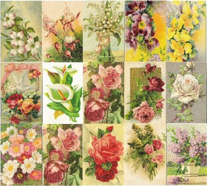 Collage Sheet Victorian Flower Cards