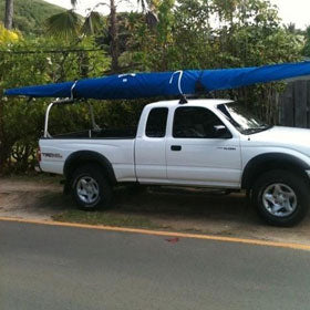 Surfski covers, OC1 covers, Outrigger Canoe Canvas, Pueo