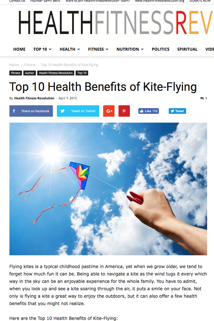 Flying Kites for the Health of it!