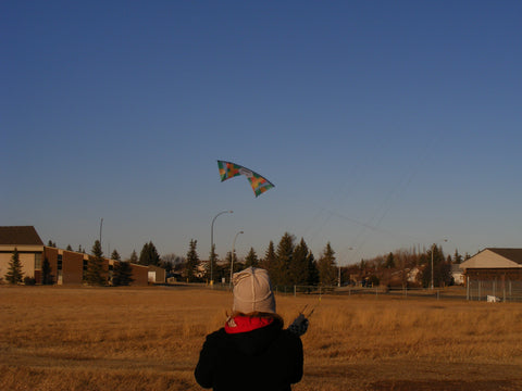 Andrea of Great Canadian Kite Company flying her Revolution kite
