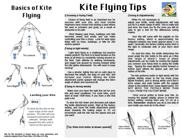 Kite flying instructions.  How to fly a stunt kite
