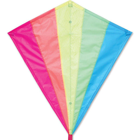 "Neon Rainbow Diamond Kite - 30"" - Great Canadian Kite Company"