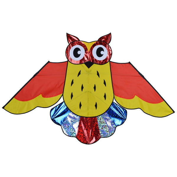 Holographic Rainbow Owl Kite - Great Canadian Kite Company