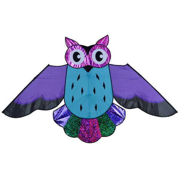Holographic Purple Owl Kite - Great Canadian Kite Company