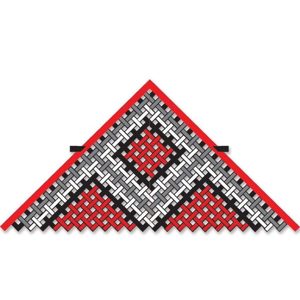 11 ft. Mesh Delta Kite - Red/Black/White - Great Canadian Kite Company
