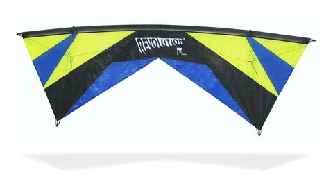 Revolution EXP with Reflex (Lime/Blue), Revolution Kites - Great Canadian Kite Co