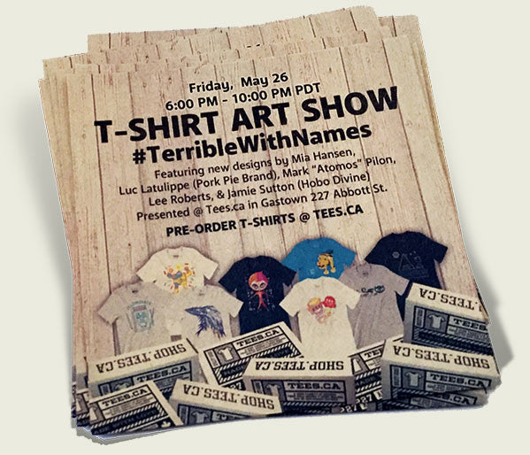 'Terrible With Names' - art t-shirt show
