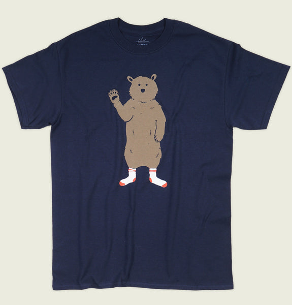 BEAR IN SOCKS Unisex T-shirt - Altru Apparel - Tees.ca