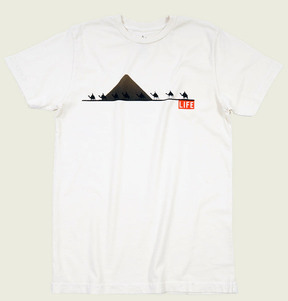 LIFE CAMELS Unisex Natural T-shirt - Altru Apparel - Tees.ca