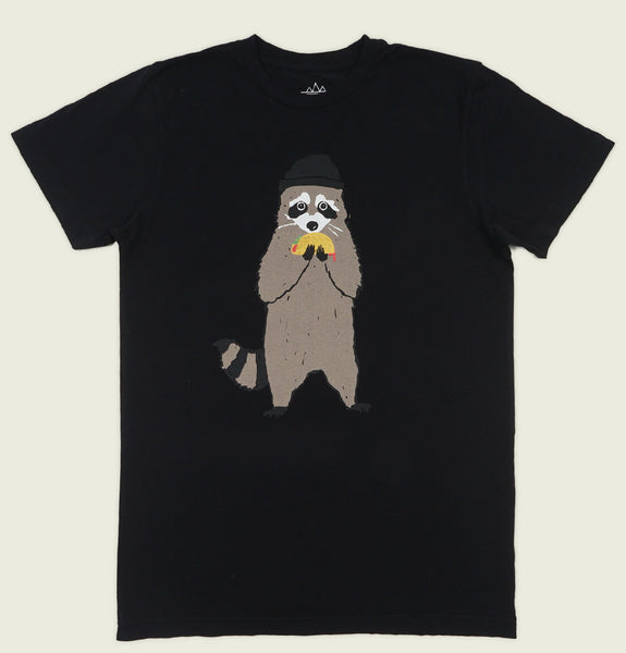 TACO BANDIT RACCOON Unisex Back T-shirt
