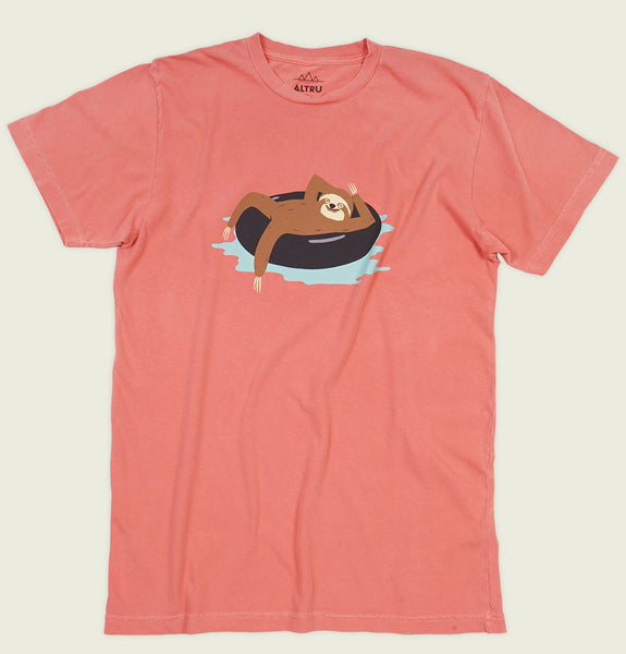 SLOTH TUBING SUMMER Unisex T-shirt - Altru Apparel - Tees.ca