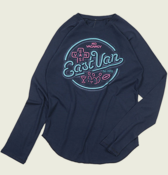 EAST VAN NEON Unisex Long Sleeve T-shirt - EastVan.Supply - Tees.ca
