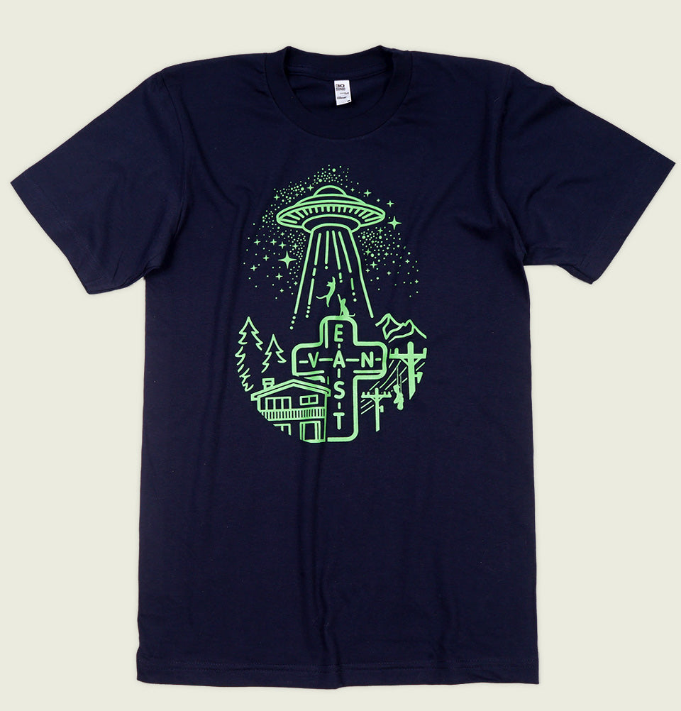 EAST VAN ALIEN ABDUCTION Unisex T-shirt - EastVan.Supply - Tees.ca