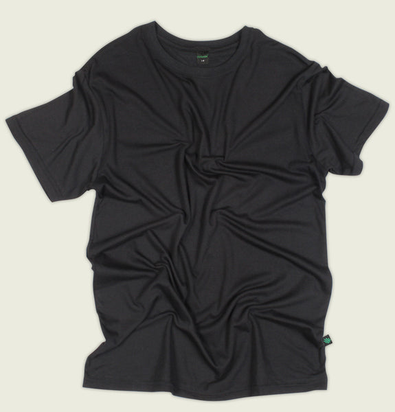 Hemp Black Tee - Tees.ca