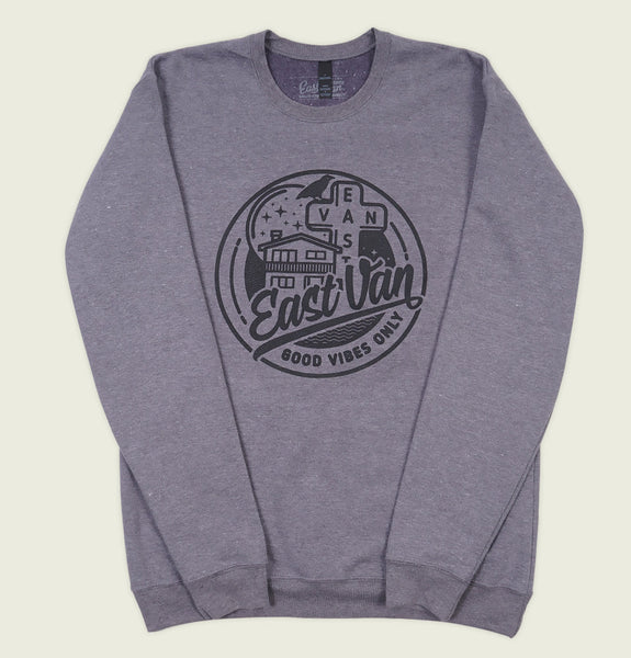 EAST VAN GOOD VIBES Unisex Sweatshirt - EastVan.Supply - Tees.ca