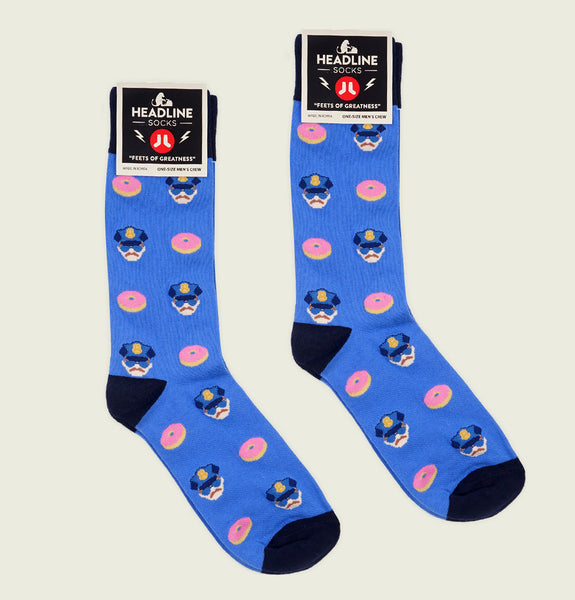 COPS & DONUTS Unisex Socks L/XL - Headline - Tees.ca