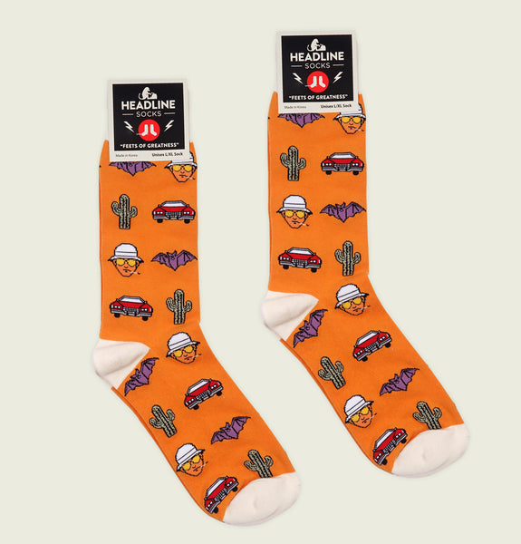 FEAR AND LOATHING IN LAS VEGAS Unisex Socks L/XL - Headline - Tees.ca
