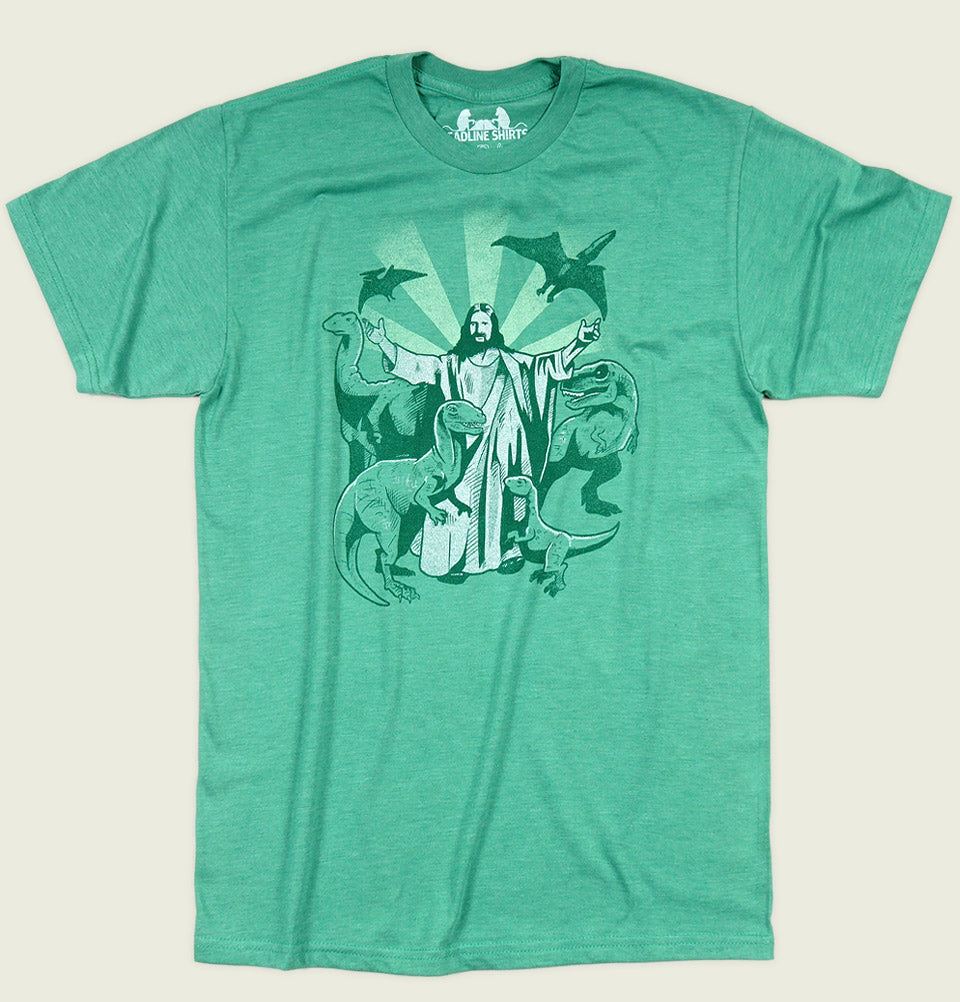 JESUS AND THE DINOSAURS Unisex t-shirt - Headline - Tees.ca