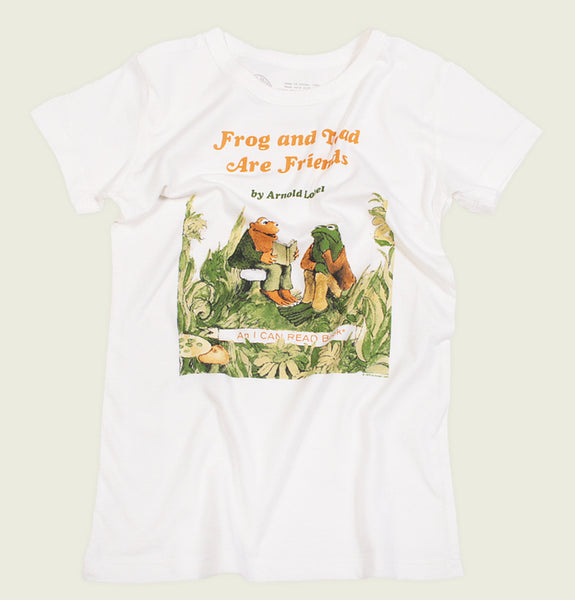 T-shirt FROG AND TOAD ARE FRIENDS by Arnold Lobel White Kid's Graphic Tee Wrinkled - Tees.ca