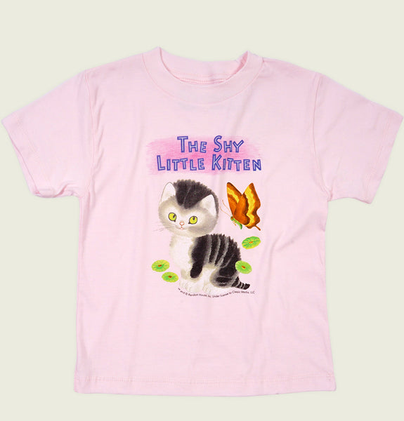 SHY LITTLE KITTEN Kid's T-shirt - Out of Print - Tees.ca
