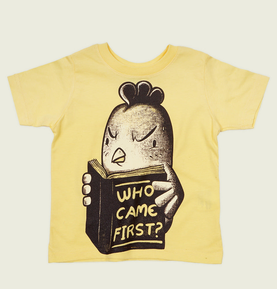 WHO CAME FIRST? Kid's T-shirt - Tobe Fonesca - Tees.ca