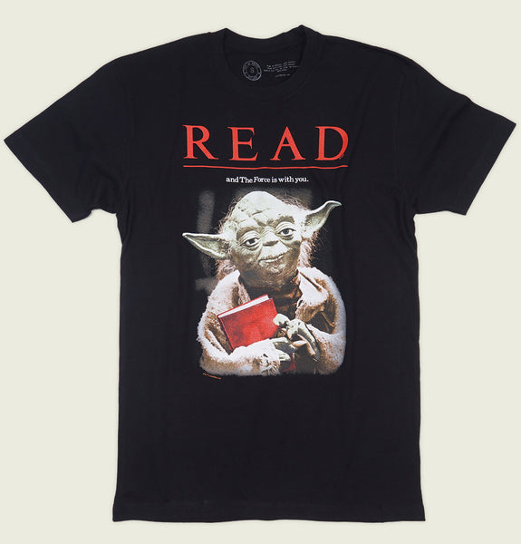 STAR WARS: YODA READ Unisex Black T-shirt - Out of Print - Tees.ca