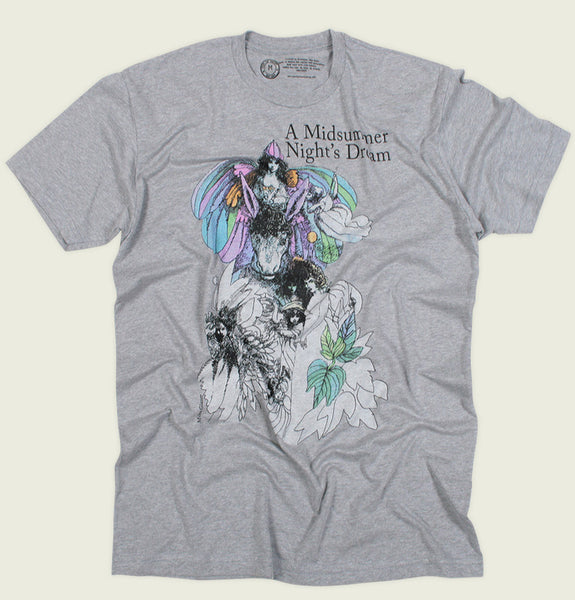 A MIDSUMMER NIGHT'S DREAM by Shakespeare Grey Men's Graphic Tee - Tees.ca