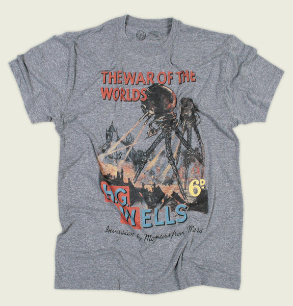 T-shirts THE WAR OF THE WORLDS by H. G. Wells Heather Men's Tee - Tees.ca