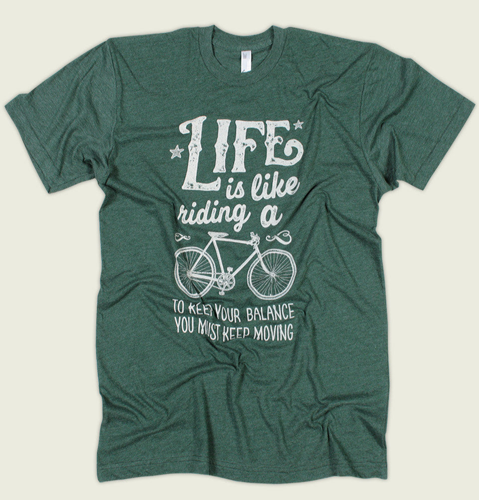 LIFE IS LIKE RIDING A BIKE Unisex T-shirt