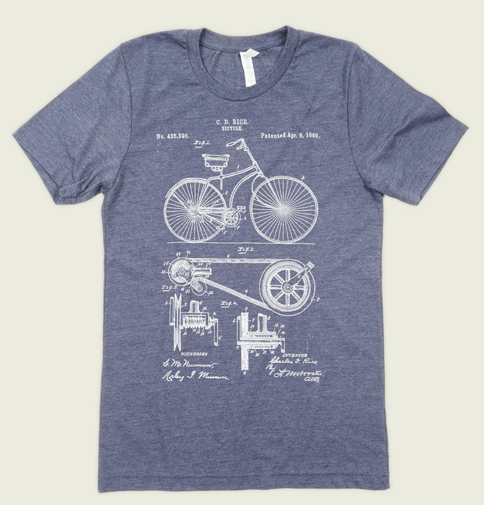 BICYCLE PATENT Unisex T-shirt - Tees.ca