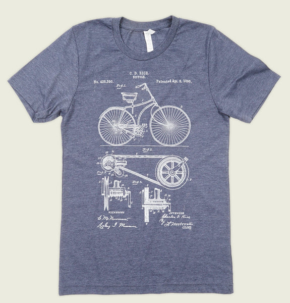 BICYCLE PATENT Unisex T-shirt - t-shirtology - Tees.ca