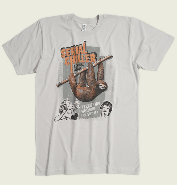SERIAL CHILLER Silver Grey Unisex T-shirt - Alter Jack - Tees.ca