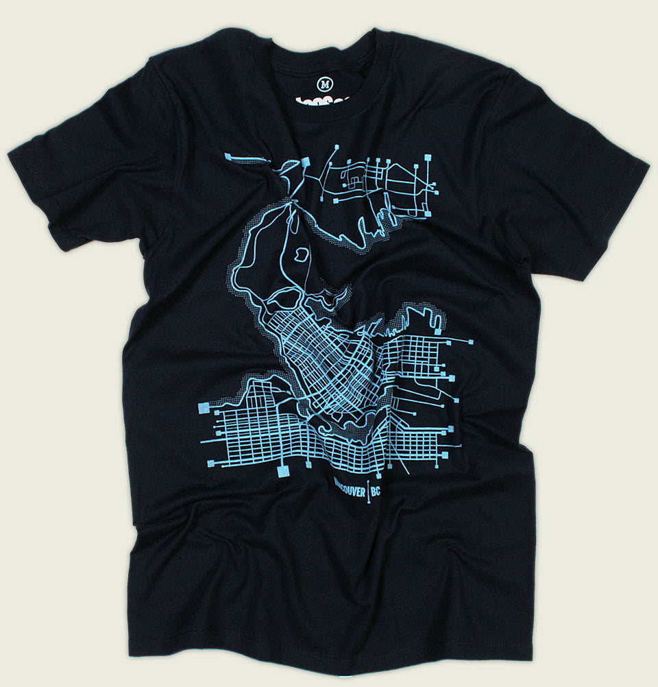 VANCOUVER MAP Unisex T-shirt - Tees.ca