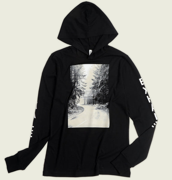 JUST BREATHE Unisex Black Pullover Hoodie - Sowilo16 - Tees.ca