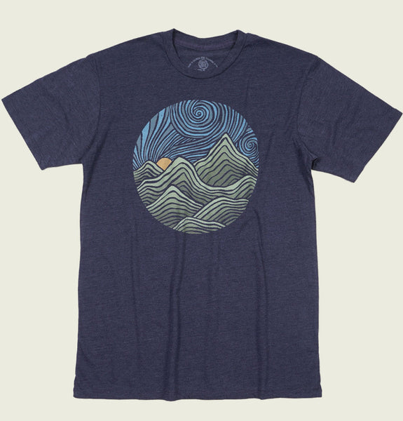 Swirly Mountains T-shirt by Dylan Fant