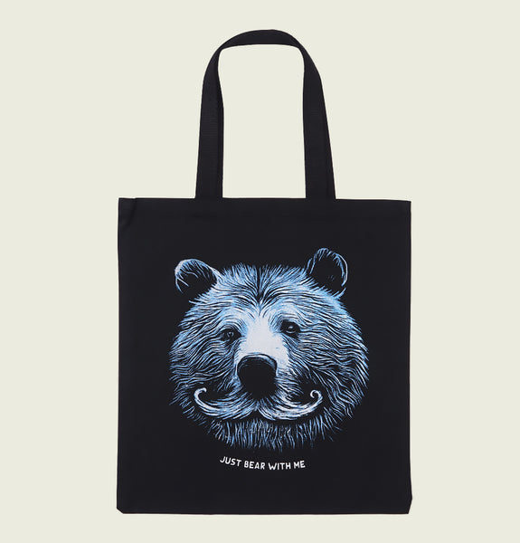 JUST BEAR WITH ME TOTE BAG - Urban Town - Tees.ca