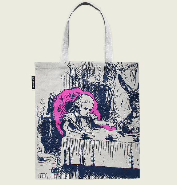 ALICE IN WONDERLAND Canvas Tote Bag with original illustration of Alice on the front - Tees.ca