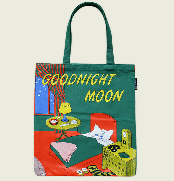 GOODNIGHT MOON by Margaret Wise Brown Tote Bag with Original Book Cover Print on the Front - Tees.ca
