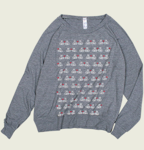 CATS PATTERN Women's Raglan Pullover - Alter Jack - Tees.ca