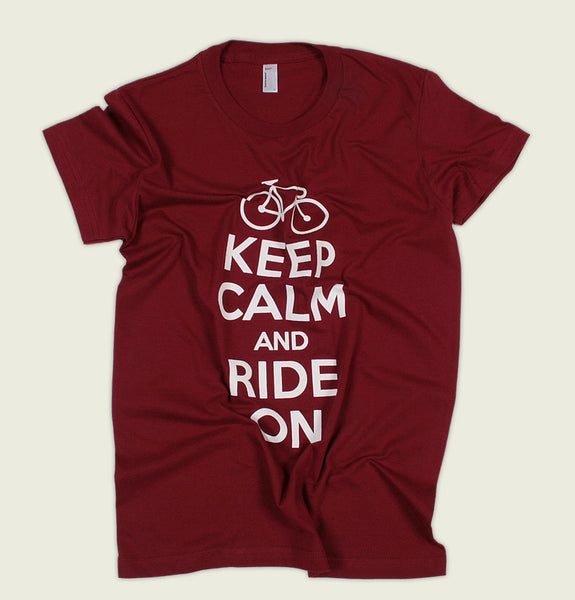 KEEP CALM AND RIDE ON Women's Tee - Tees.ca