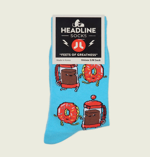 DONUTS & COFFEE Unisex Socks S/M - Headline - Tees.ca