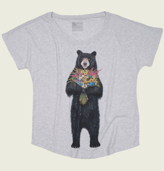 Bear Flowers Women's Dolman T-shirt