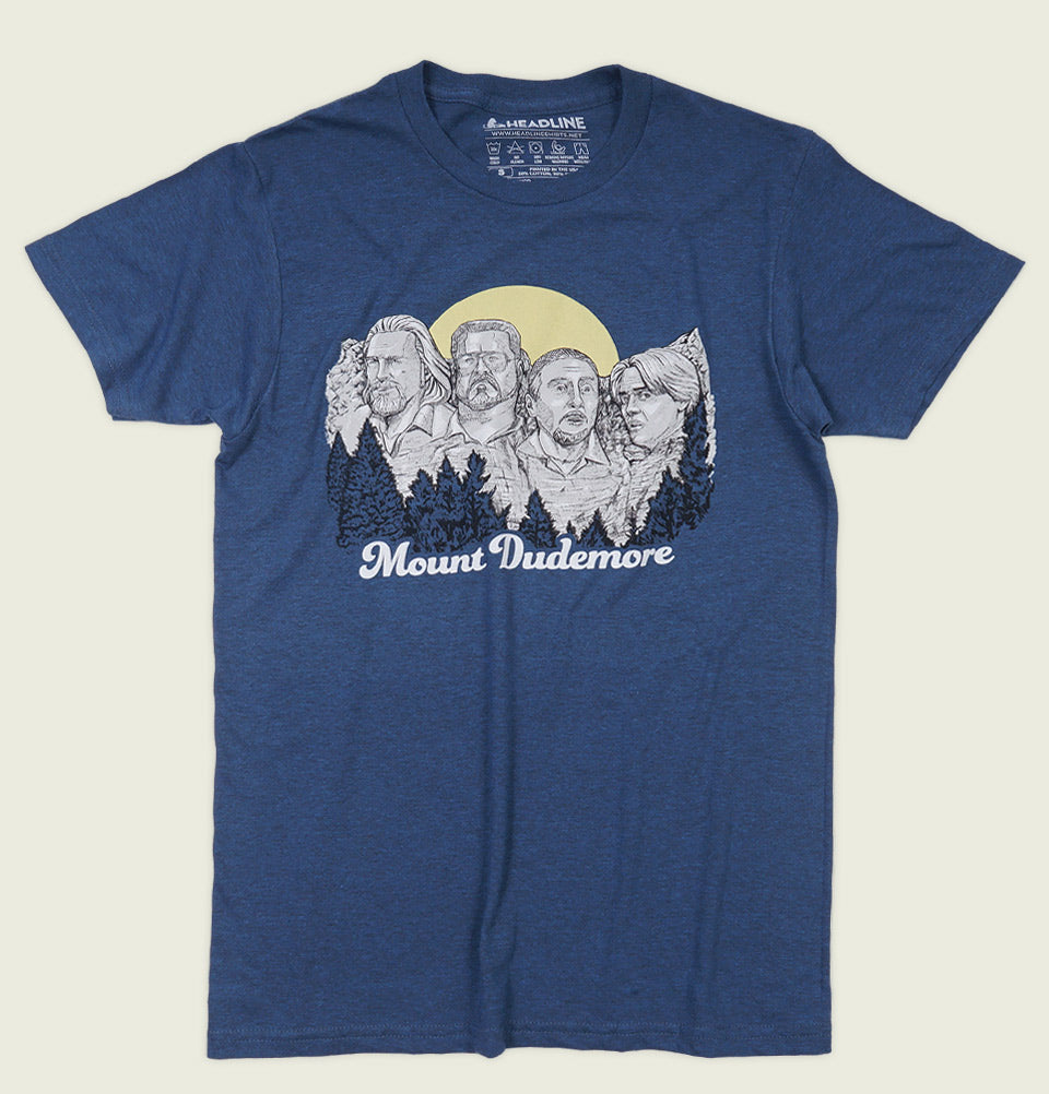 MOUNT DUDEMORE Blue Unisex t-shirt - Headline - Tees.ca