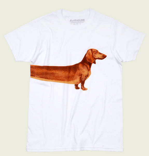 EXTRA LONG WIENER White Unisex t-shirt - Headline - Tees.ca
