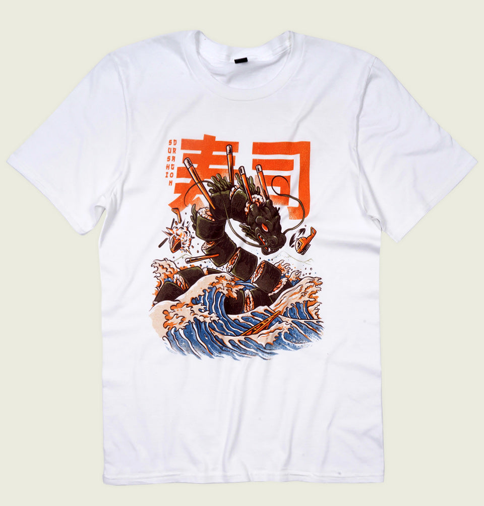 GREAT SUSHI DRAGON Unisex T-shirt - Ilustrata - Tees.ca