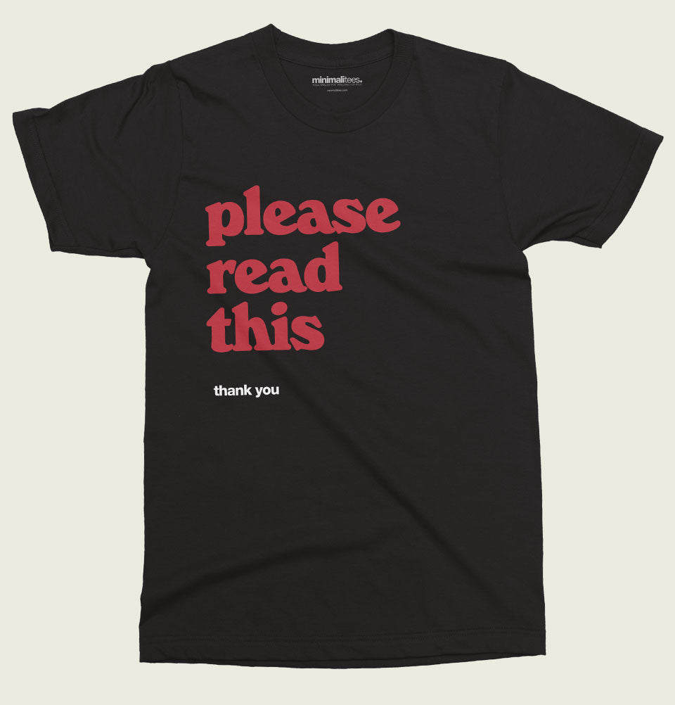 Please Read This Unisex T-shirt