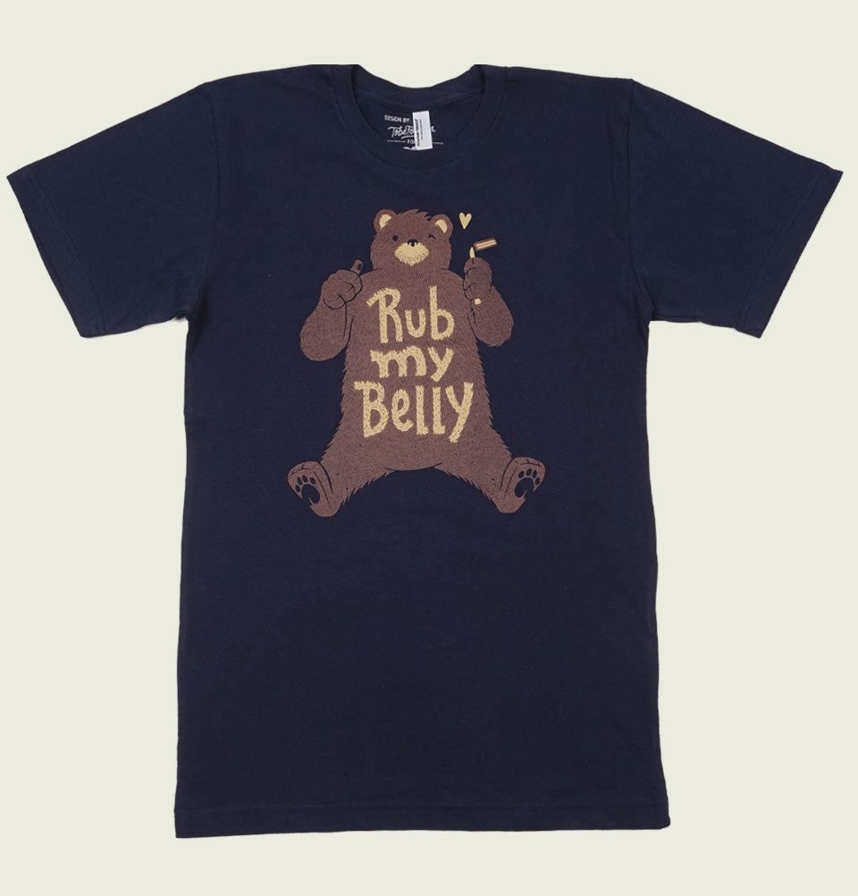 RUB MY BELLY Bear Unisex T-shirt - Tobe Fonesca - Tees.ca