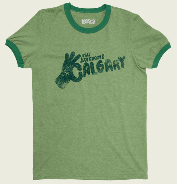 Stay Awesome Calgary Unisex Ringer T-shirt