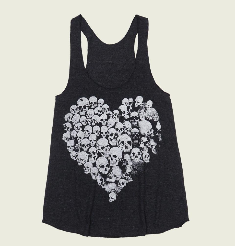 HEART SKULLS Women's Tank Top - t-shirtology - Tees.ca